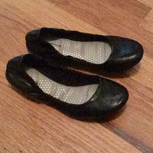 Faded Glory Black Flats Memory Foam Size 6